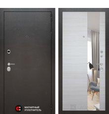 Дверь Лабиринт SILVER с Зеркалом - Акация светлая горизонтальная