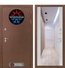 Дверь Лабиринт Термо Магнит с Зеркалом Максимум - Сандал белый