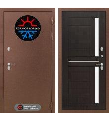 Дверь Лабиринт Термо Магнит 02 - Венге, стекло белое