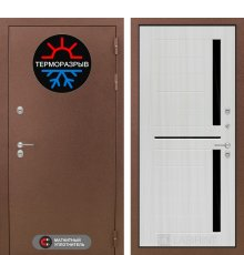 Дверь Лабиринт Термо Магнит 02 - Сандал белый, стекло черное