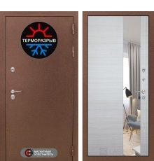 Дверь Лабиринт Термо Магнит с Зеркалом - Акация светлая горизонтальная