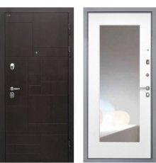 Дверь Интекрон Веста/Зеркало ФЛЗ-М белая матовая