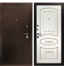 Дверная биржа Веста-4 Антик медь / Смальта-05 эмаль Ral9003