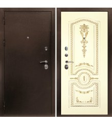 Дверная биржаВеста-4 Антик медь / Смальта-11 эмаль Ral1013 фото
