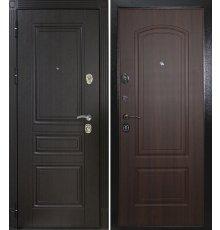 Дверная биржа Гера -1 шагрень черная Венге ФЛ-243/Орех бренди ФЛ-138