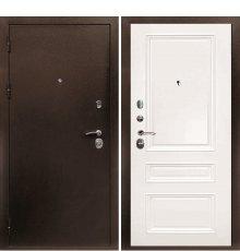 Дверная биржа Веста-4 Антик медь / Смальта-06 эмаль Ral9003 Белый