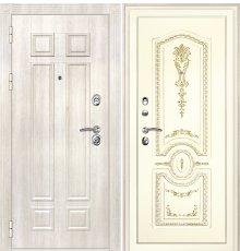 Дверная биржа Гера-2 ФЛ-2507 Дуб филадельфия крем / Смальта-11 эмаль Ral1013 Cлоновая кость