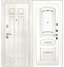Дверная биржа Гера-2 ФЛ-2507 Дуб филадельфия крем / Смальта-05 эмаль Ral9003 Белый