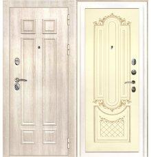 Дверная биржа Гера-2 ФЛ-2507 Дуб филадельфия крем / Смальта-13 эмаль Ral1013 Cлоновая кость