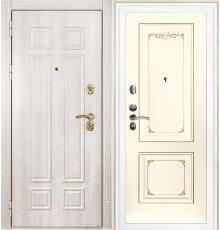 Дверная биржа Гера-2 ФЛ-2507 Дуб филадельфия крем / Смальта-14 эмаль Ral1013 Cлоновая кость пат. шампань