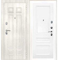 Дверная биржа Гера-2 ФЛ-2507 Дуб филадельфия крем / Смальта-06 эмаль Ral9003 Белый