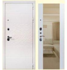 Дверь ЗД Дэко белый снег софт белый Макси зеркало