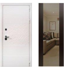 Дверь ЗД Дэко белый снег венге макси зеркало