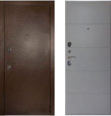 Дверь ЗД Эталон 3к медь панель Тривиа Эмаль светло-серая