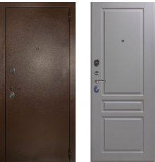 Дверь ЗД Эталон 3к медь панель Стокгольм Эмаль светло-серая