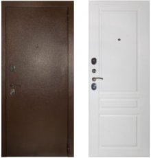 Дверь ЗД Эталон 3к медь панель Стокгольм Эмаль белая