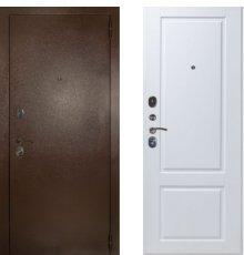 Дверь ЗД Эталон 3к медь панель Доррен Эмаль белая
