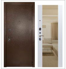 Дверь ЗД Эталон 3к медь панель Большое зеркало Софт белый