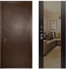 Дверь ЗД Эталон 3к медь панель Большое зеркало Венге
