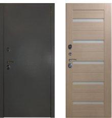 Дверь ЗД Эталон 3к алюминий панель царговая СБ-1 Капучино