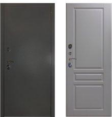 Дверь ЗД Эталон 3к алюминий панель Стокгольм Эмаль светло-серая