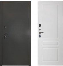 Дверь ЗД Эталон 3к алюминий панель Стокгольм Эмаль белая