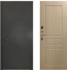 Дверь ЗД Эталон 3к алюминий панель К2 Беленый дуб