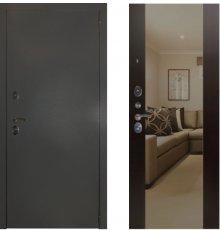 Дверь ЗД Эталон 3к алюминий панель Большое зеркало Венге