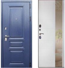 Дверь ЗД Альберо ночи панель Лира зеркало Софт белый
