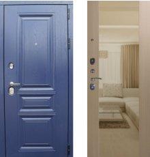 Дверь ЗД Альберо ночи панель Большое зеркало Беленый дуб