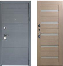 Дверь ЗД Лира Софт графит панель царговая СБ1 Капучино