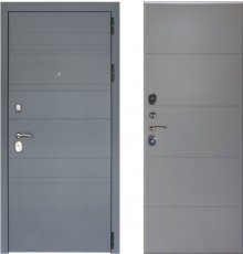 Дверь ЗД Лира Софт графит панель Тривиа Эмаль светло-серая