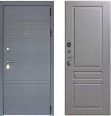 Дверь ЗД Лира Софт графит панель Стокгольм Эмаль светло-серая
