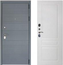 Дверь ЗД Лира Софт графит панель Стокгольм Эмаль белая