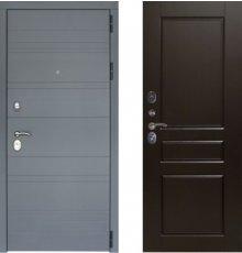 Дверь ЗД Лира Софт графит панель К2 Венге