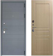 Дверь ЗД Лира Софт графит панель К2 Беленый дуб