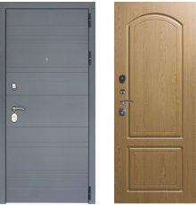 Дверь ЗД Лира Софт графит панель К1 Дуб тёмный