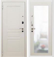Дверь Мет. SD PROF-10 Троя Белая Большое Зеркало