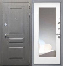 Дверь Интекрон Брайтон графит/ФЛЗ 120 белая матовая