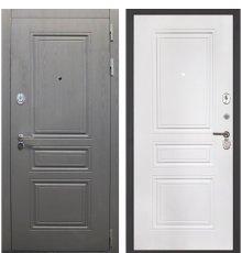 Дверь Интекрон Брайтон графит/ФЛ-243 белая матовая