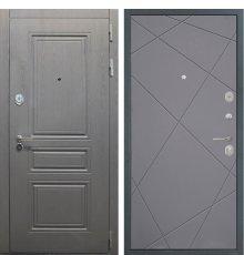 Дверь Интекрон Брайтон графит/Лучи графит