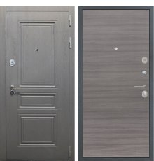 Дверь Интекрон Брайтон графит/Дуб тоскано поперечный
