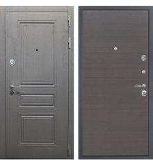 Дверь Интекрон Брайтон графит/эковенге поперечный