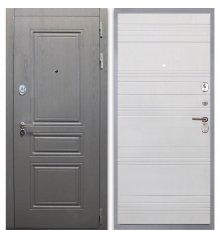 Дверь Интекрон Брайтон графит/ФЛ-316 белый ясень