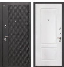 Дверь Интекрон Олимпия Black/Белый матовый КВ2