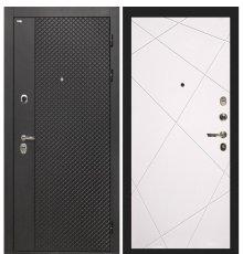 Дверь Интекрон Олимпия Black/Софт Милк Лучи