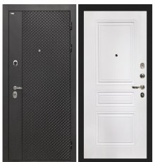 Дверь Интекрон Олимпия Black/ФЛ-243 белая матовая
