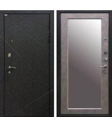 Дверь Ратибор Эстет 3К Зеркало Светлый Бетон
