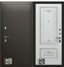 Дверь Кондор Райтвер Премьер с Накладкой Аккорд патина серебро