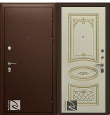Дверь Кондор Райтвер Премьер с Накладкой Ария Слоновая кость патина золото